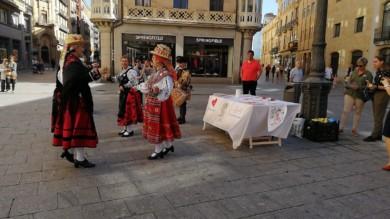Baile charro para apoyar la causa de la asociación Corazones Guerreros en Salamanca.