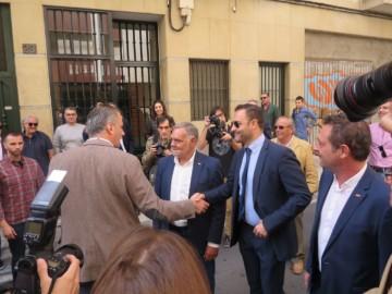 Javier Ortega Smith acudió a la inauguración de la sede de Vox en Salamanca.