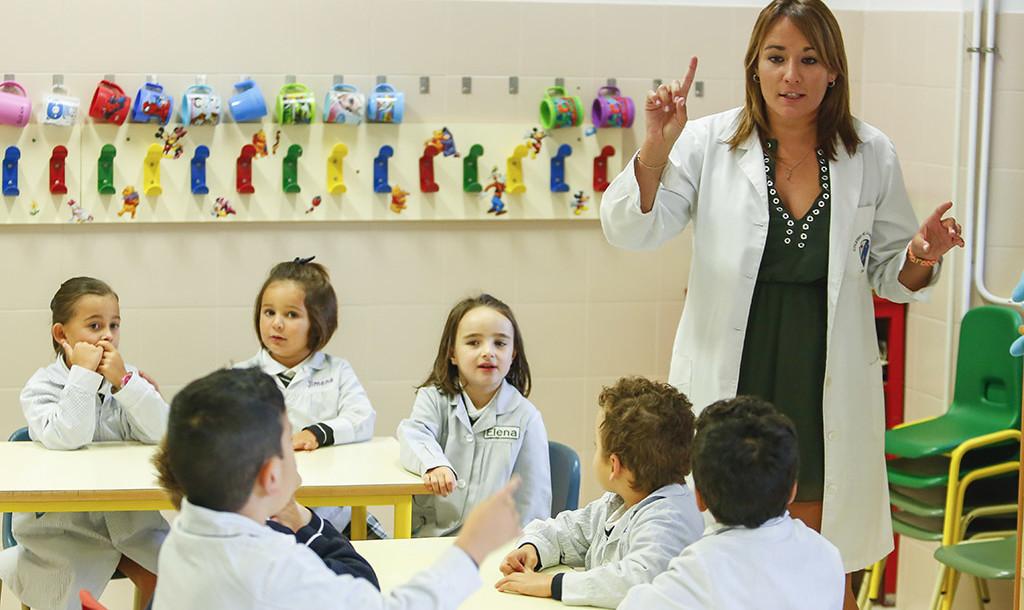 Inicio del curso escolar en el colegio La Asunción de León