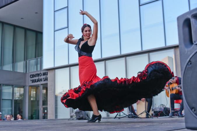 El flamenco se sintió en la plaza de la Concordia. Salamanca