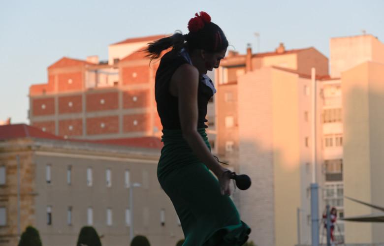 Flamenco en la plaza de la Concordia. Salamanca