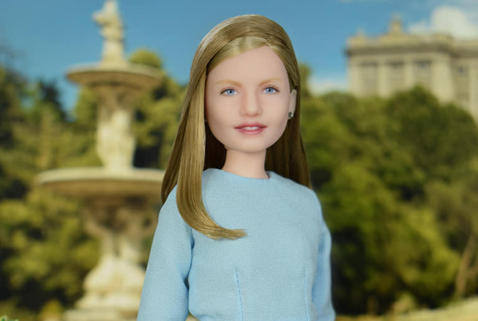 La muñeca inspirada en la Princesa de Asturias.