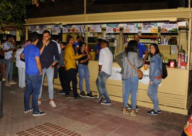 Lcasetas os salmantinos inauguran la Feria de Día.