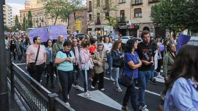 Salamanca se suma a las manifestaciones contra la violencia de género. #NocheVioleta.
