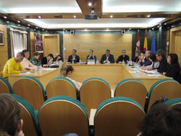 Momento del pleno municipal celebrado en el Ayuntamiento de Carbajosa.