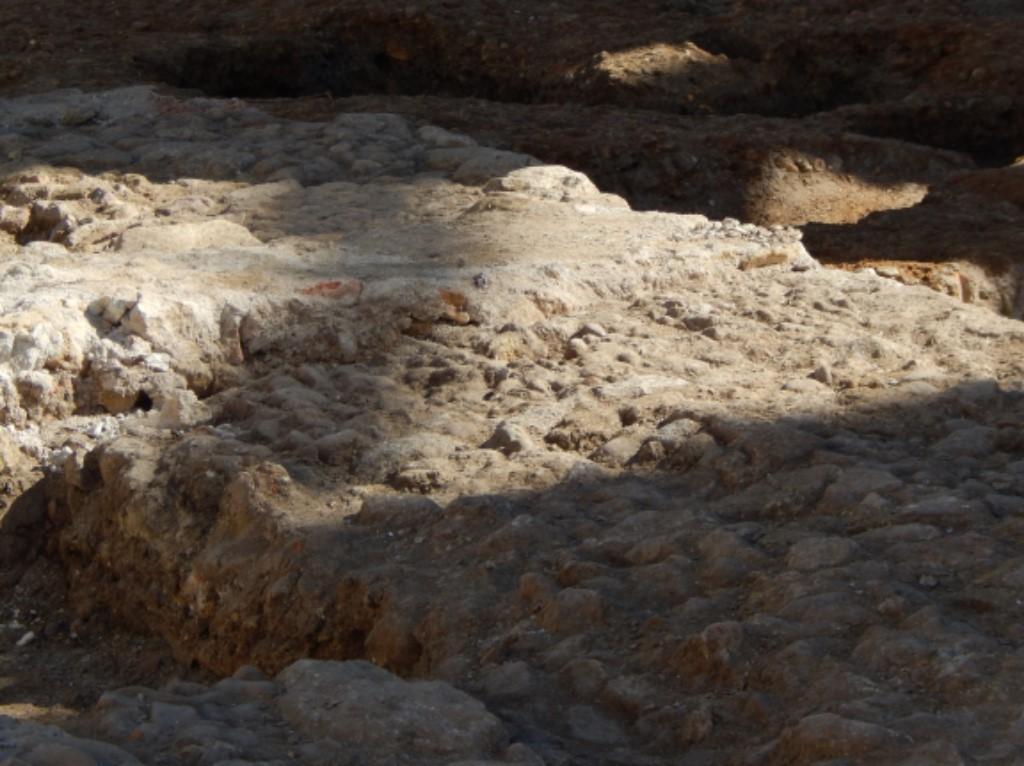 Restos de empedrado romano en Salamanca