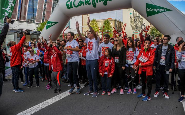 Cientos de salmantinos participaron en la marcha solidaria de los 1.000 pasos organizada por la Fundación Aviva.