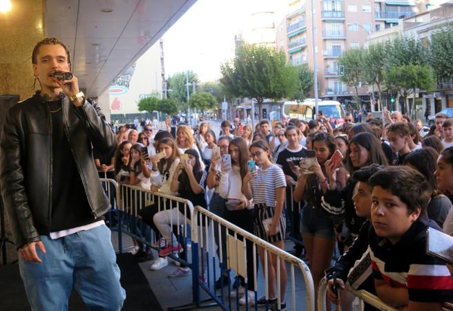 Blake, el rapero salmantino firmó discos en El Corte Inglés.
