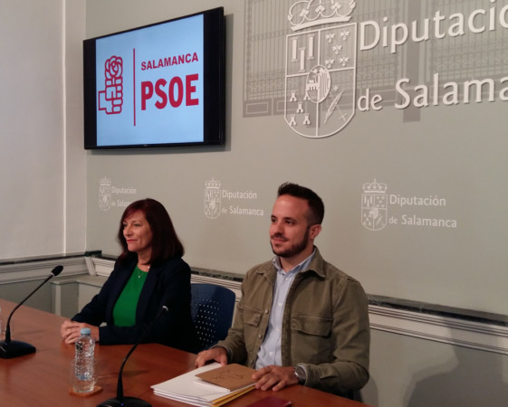 Carmen Ávila y Carlos Fernández, diputados provinciales socialistas de Salamanca