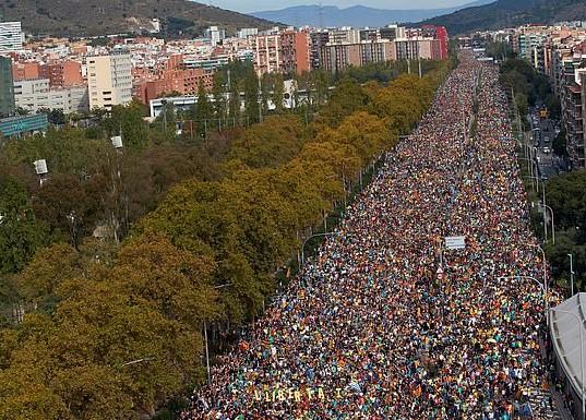 cataluña manifestacion