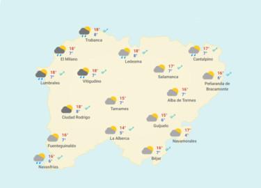 DANA y sus precipitaciones llegan a Salamanca.