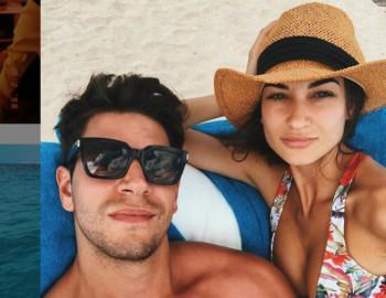 Diego Matamoros y Estela Grande. Foto. Instagram.