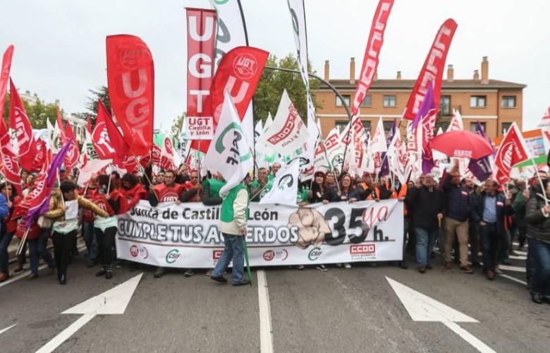 funcionarios protesta junta 35 horas ical
