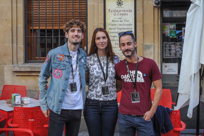 Santiago, Andrea y Mario, integrantes de la Legión 501 que desfilarán por Salamanca este sábado.