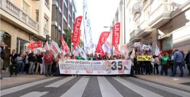 ical funcionarios protesta 35 horas valladolid