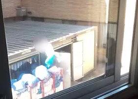 Imagen de los fardos de la lavandería en el hospital de Salamanca.