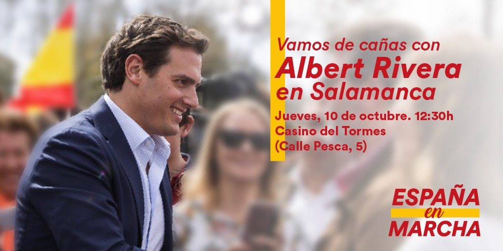 Albert Rivera, de cañas por Salamanca