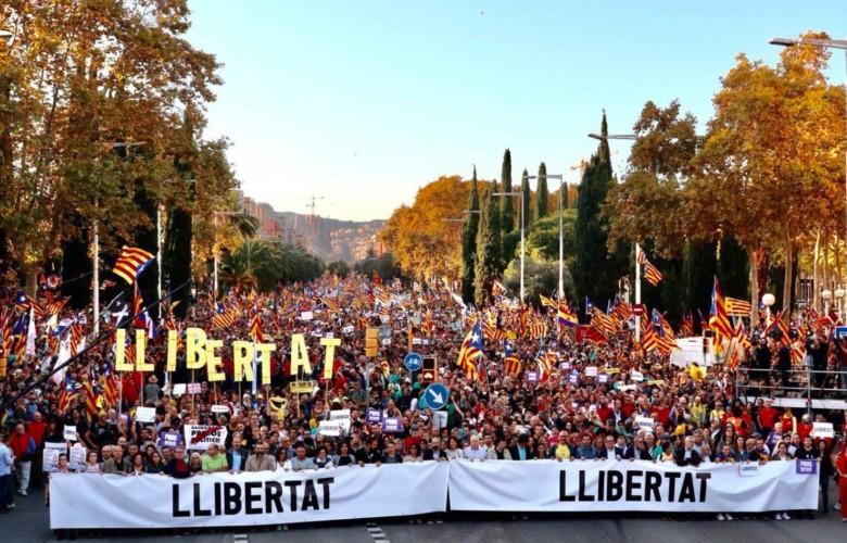 independentistas manifestacion cataluña
