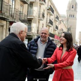 Inés Arrimadas, en su visita a Salamanca.