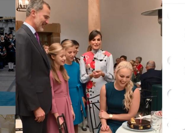 La Familia Real felicita a Linsey Vonn. Foto. Instagram.