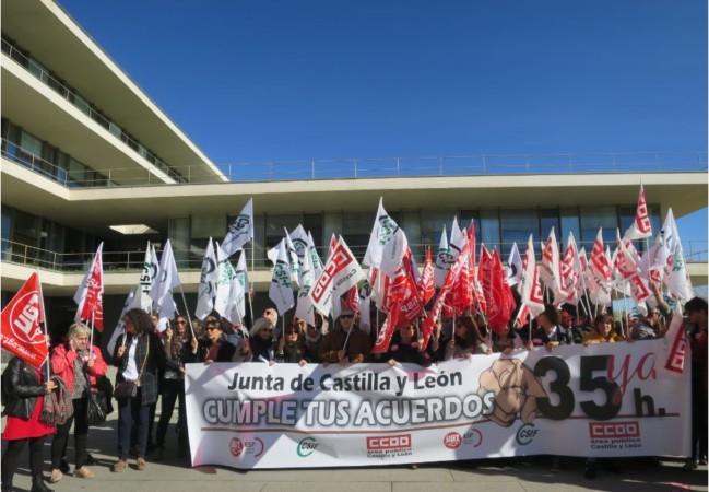 protesta 35 horas funcionarios