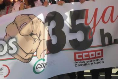 protesta 35 horas junta funcionarios (2)