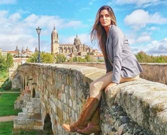 Van Esgueva, la bloguera salmantina que ha recorrido 67 países y los cinco continentes.