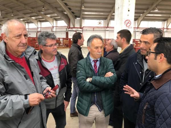 Los cabezas de lista al Congreso y Senado, José Antonio Mirón y Manuel Morán y David Castaño, Manuel Hernández y Jesús Luis de San Antonio