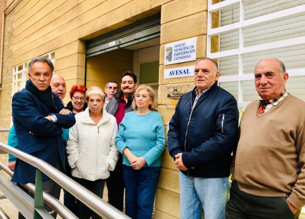 José Antonio Mirón, candidato al Congreso por Ciudadanos visitó a los representantes de las Asociaciones de Mayores de Salamanca.