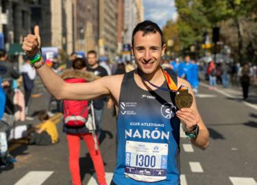 Alejandro Diego Montero, el salmantino que completó el Maratón de Nueva York y cruzó la meta en el puesto 132.
