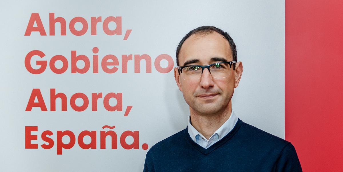 David Serrada, candidato del PSOE al Congreso de los Diputados por Salamanca.