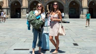 Susan Hoecke y Patricia Aulitzk, las protagonistas de Un verano en Salamanca.