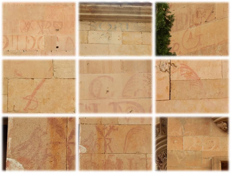 Detalles en el Patio de Escuelas, Clerecía y Catedral Nueva