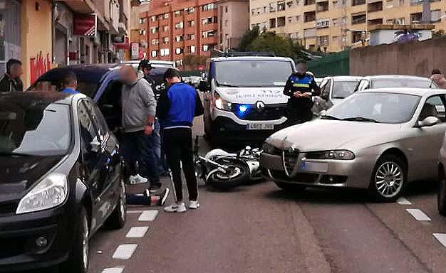 accidente moto calle espronceda (1)