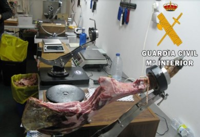 guardia civil jamon