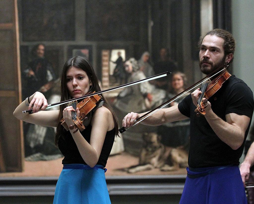 Juan Lázaro / ICAL El Proyecto Ibérico Orquestal (PIO), una iniciativa del Área Socioeducativa de la Orquesta Sinfónica de Castilla y León, ofrece una actuación en el Museo del Prado con motivo de los actos de celebración del bicentenario de la pinacoteca.