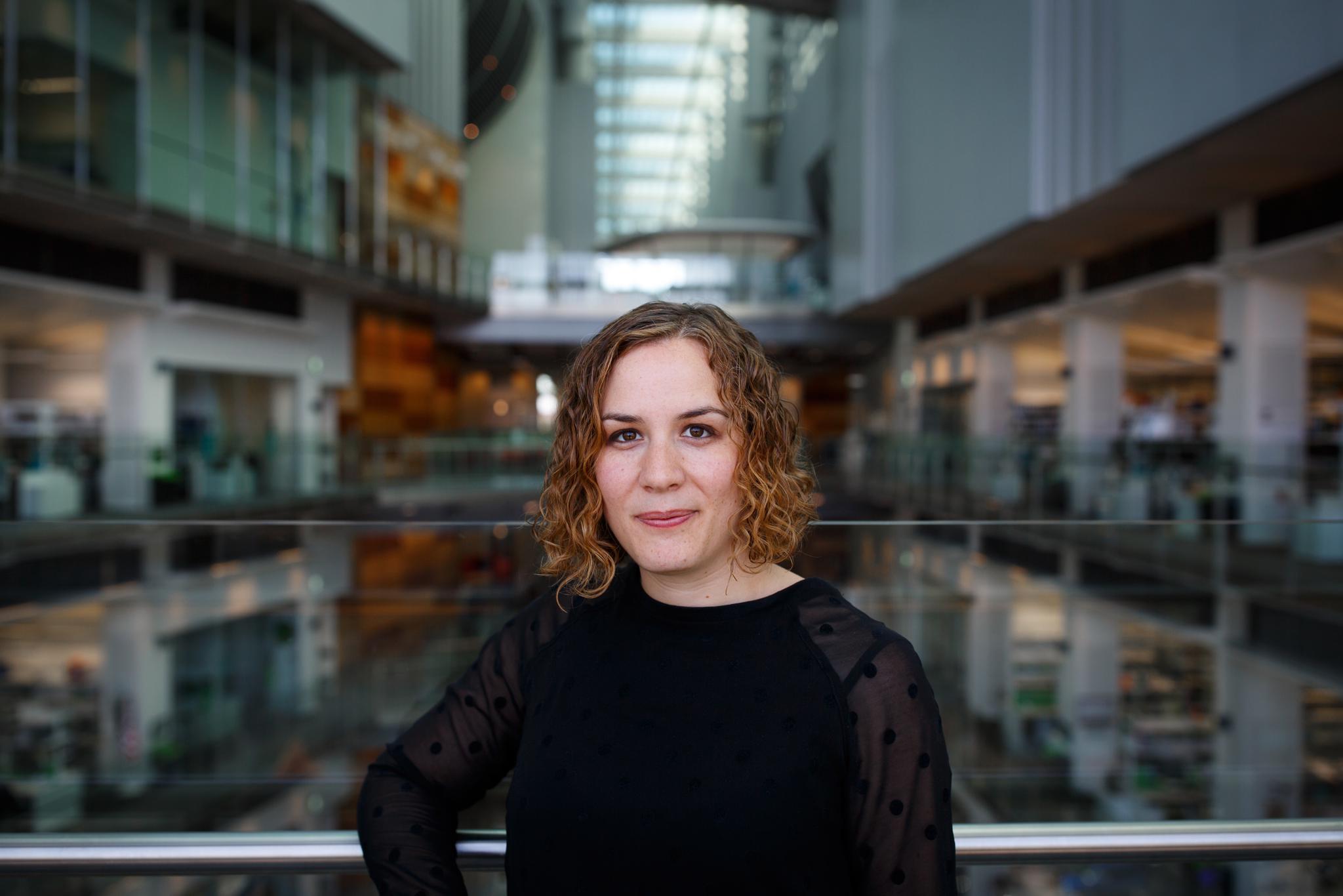 Sofía Muñoz Félix, en el centro de investigación en Londres, el Francis Crick Institute