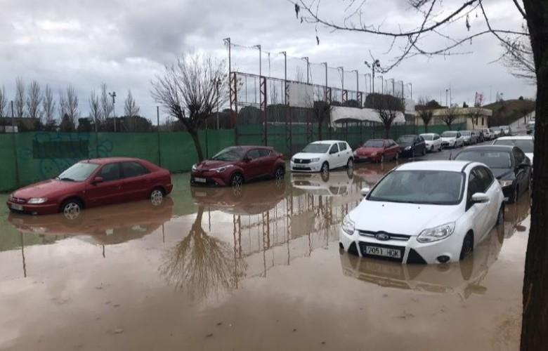 inundacion junto campo neme