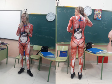 La original manera de enseñar el cuerpo humano a los alumnos.
