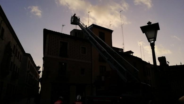 Los Bomberos de Salamanca acudieron a la calle Serrano.