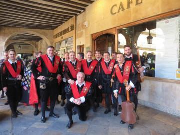 Los tunos de Derecho de la Universidad de Salamanca se reunieron para celebrar su comida de Navidad.