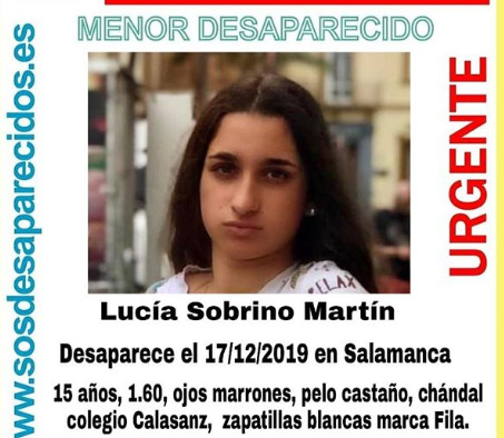 Lucía Sobrino Martín desapareció el martes 17 en Salamanca.