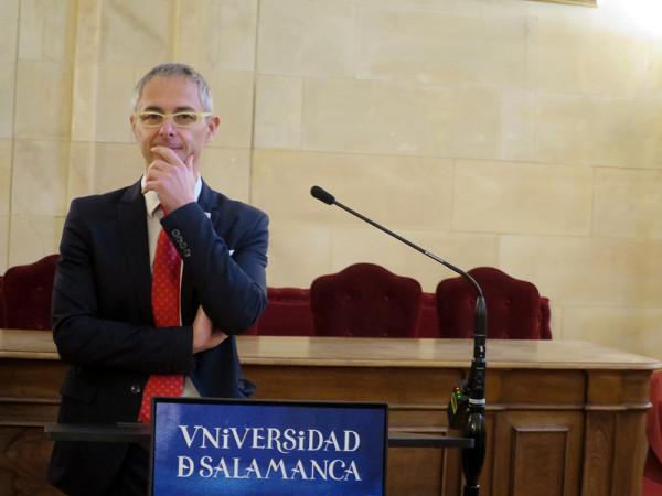 Ricardo Rivero, rector de la Universidad de Salamanca.
