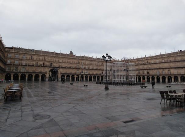 La Plaza Mayor de Salamanca.