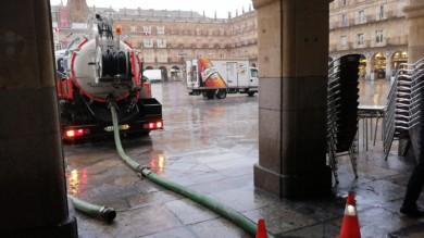 Sótanos inundados en la Plaza Mayor
