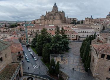 La ciudad de Salamanca vista desde la terraza de los Dominicos.