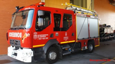 Los bomberos de Segovia acudieron hasta el lugar del accidente.