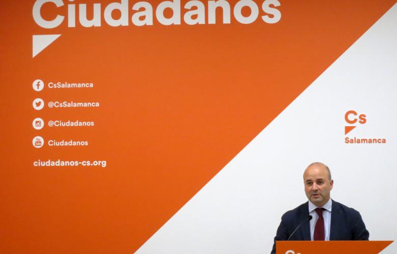 David Castaño, procurador de Ciudadanos por Salamanca.