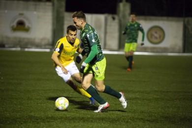 El Guijuelo logró los tres puntos en el Municipal al ganar al Izarra por 3 -0. Foto. Guijuelo.