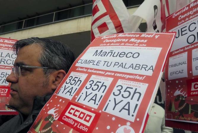 funcionarios protesta 35 horas ugt ccoo (4)